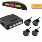 Wireless Black 4 rear car parking reverse reversing sensor buzzer LED