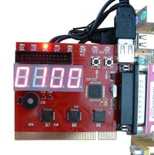 PCI & LPT port 4 bits diagnostic post card - MOTHERBOARD TESTER - PROFESSIONAL TOOL