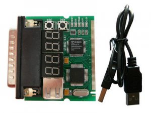 Mini-PCI & LPT port 4 bit diagnostic post card - MOTHERBOARD TESTER - PROFESSIONAL TOOL