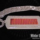 Programmable Metal LED Bright RED Color Scrolling message Necklace