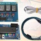 USB Multi Functional Voltage Meter Tachometer Square Wave Signal Generator 4 Port Relay Controller