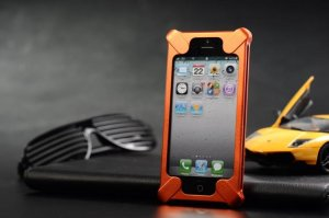 Transformers Aluminum Metal Frame Bumper Case cover for iPhone 5 5TH 5G Orange