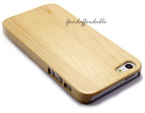 Natural Bamboo Wood Hard Cover faceplate Case for Apple iPhone 5 5G