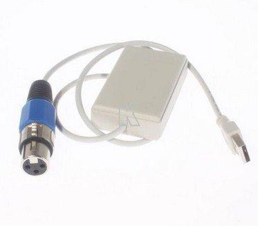 USB to DMX Interface Adapter DMX512 DMX 512 PC Computer Software Stage Lighting Light Controller