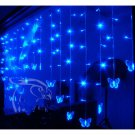 Waterproof 2 meter Blue LED Light String Strip Lamps butterfly For New Year Xmas Party Wedding