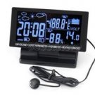 Car Vehicle Clock Thermometer Hygrometer Voltage Measuring LCD Display