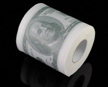 3 pcs US Dollar USD 100 Hundred Money Dollar Bill Toilet Paper Tissue Roll Funny Novelty Gag