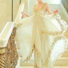 Elegant Beauty Nice Princess Boho Chiffon Ruffle Tiered Asymmetric Hem Long Dress