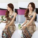 Hot Sexy summer Women Floral V-Neck Beach Boho lace Maxi Big Hem Sundress Long Dress