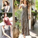 Summer Women Meryl Floral V Neck Beach Boho Bohemia Maxi Sundress Long Dress