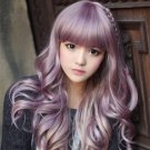 Japanese Harajuku Zippe mix Purple Gradient 60cm curly Lolita Cosplay Party Wig