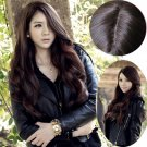 Full wigs Long Curly Wavy hair Cosplay Party Wig With Parted Center Bangs