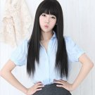 Fashion Long Straight Women Girl Full Black Color Hair Wigs Cosplay Party