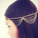 Women Lady Beauty Celebrity BOHO Chain Fringe Tassel Metal Head Piece Hair Band
