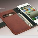 High Quality Leather Wallet case with magnetic flip sleek look for i phone 5S and 5