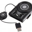Mini Vacuum USB Cooler Air Extracting Heat Cooling Cool Fan for Notebook Laptop