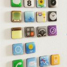 18 App Fridge refrigerator Magnet magnets Metal plate Smart Icon for iPhone Phone