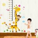 Giraffe MonkeyVinyl Wall Decal Stickers Kids Measure Height