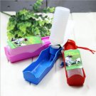 Plastic Foldable Pet Dog Cat Travel Drink Water Feeder Bottle Bowl