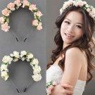 Flower Garland Floral Bridal Headband Hairband Wedding Hair Prom