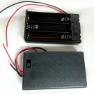 20 pcs 3 AAA 3A Battery 3V Holder Power Box Case with Black ON OFF Slide Switch