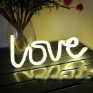Romantic LOVE Shape LED Neon Light Home Children Bedroom Wall Decoration Light