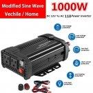1000 2000 Watt Powk Power Charging Inverter DC 12V to AC 110V for Car Truck RV