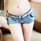 Trendy Women Sexy Beach Party Hot Low Waist Pants Fringe Hem Jeans Denim Shorts