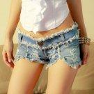 Women Sexy Beach Clubbing Lady Party Hot Low Waist Pants Fringe Hem Jeans Denim