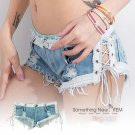 Stylish Women Sexy Beach Nightclub Hot Unique Pant Fringe Hem Jeans Denim Shorts