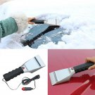 Heated Ice Scraper Remove Ice Snow Windshield Motor Car 12V Lighter Power Scrape