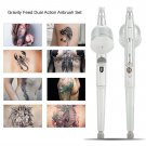 0.2 mm Dual Action Gravity Feed Airbrush Spray Gun Paint Tattoo Art DIY Tool Kit