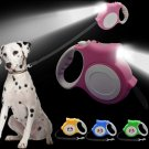 5 Meter Retractable Night Safety Dog Lead Light Extendable Puppy Auto Leash Belt