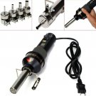 LCD Hot Heat Air Gun Blower Welding Weld Tools with 4 Nozzles IC SMD Desolder