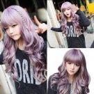 Fashion Long Purple Wavy Curly Beauty Women Lady Cosplay Lolita Hair Wigs Wig