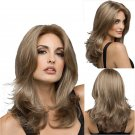 Wavy Layered Medium Blonde Mix Wigs Full Lace Front Hair Wig Grace Hair Piece