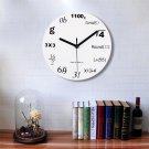 Innovative Wall Clock Modern Design Mathematic Maths Equation Wall Clock Decor