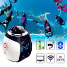 Wireless 360 Degree Wifi 4K 3D Action Sport DV VR Dash Cam Waterproof Camera