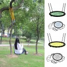 60 CM Kids Outdoor Round Hanging Rope Net Tree Swing Chair Children Patio Garden