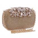 Women Ladies Luxury Evening Purse Wedding Floral Crystal Rhinestones Hand Bag