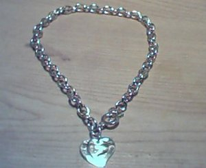 Silver 2 Heart Toggle Necklace