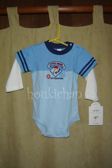 NWT Carter's Little Rookie L/S One-Piece 12 mos.