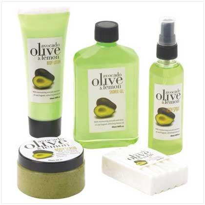 AVOCA, OLIVE & LEMON BATH SET