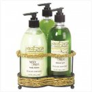 MINT & SAGE BATH SET-WIRE STND