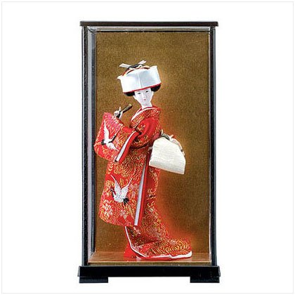 JAPANESE BRIDE DOLL IN CASE