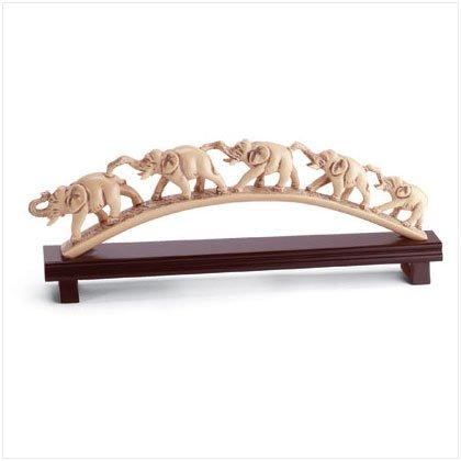 'IMPERIAL IVORY' 5 ELEPHANTS