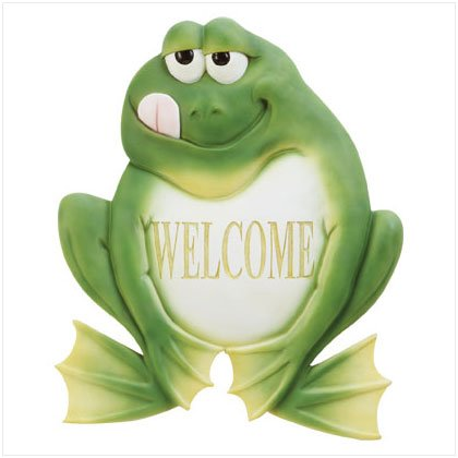 ALAB FROG WELCOME PLAQUE