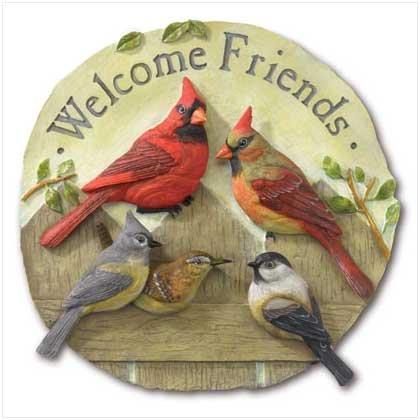 WELCOME FRIENDS GARDEN PLAQUE