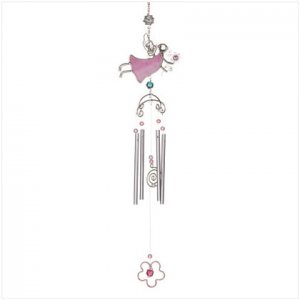 PINK ANGEL WIND CHIME