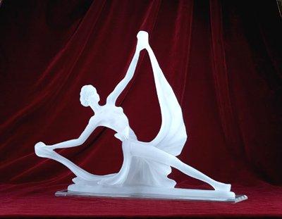 FROSTED DANCER SCULPTURE